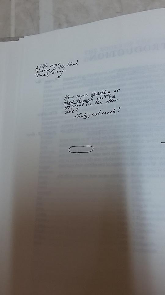 writing blank