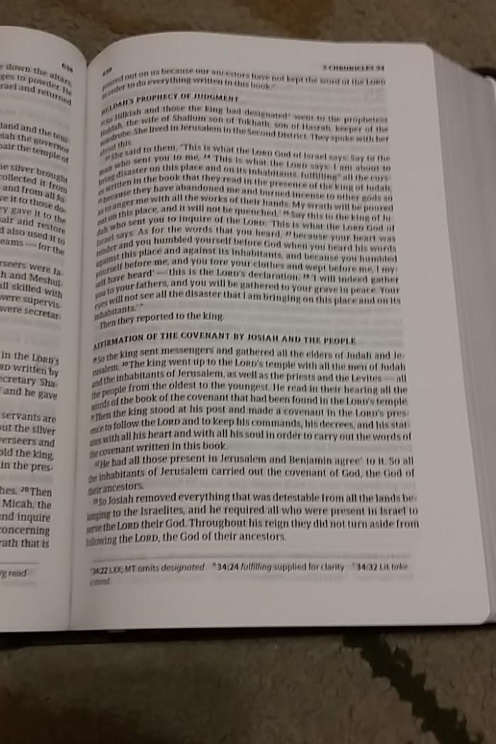 Pastor's Bible inside