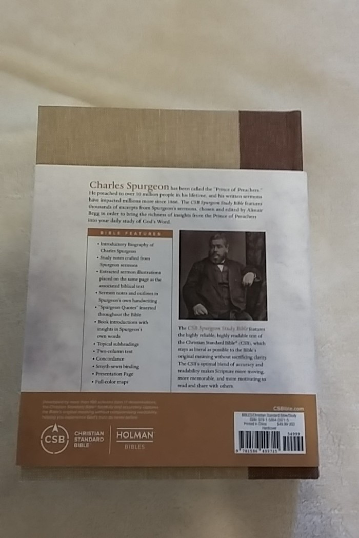 Spurgeon back cover